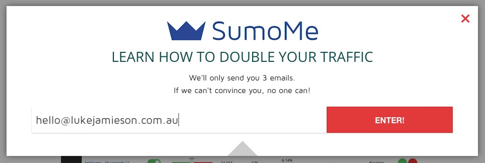 sumome email capture
